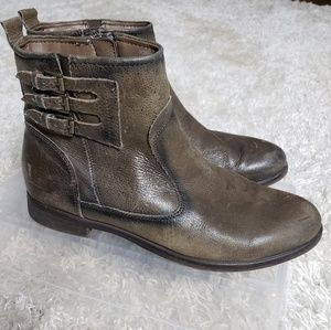 Earth Norway taupe burnished ankle boots